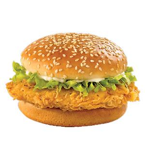 junk food chicken burger