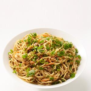 junk food plate of noodles