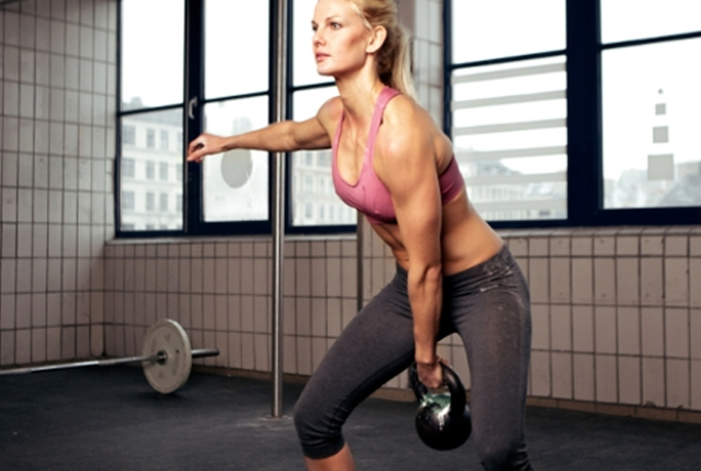 Strength training with weight lifts