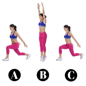 10 Minute Core Workout For A Fitter New You! - Jump or Split Lunges