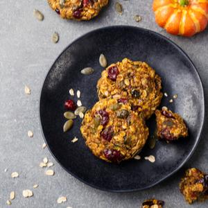 Chewy Pumpkin Cranberry Cookies
