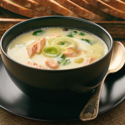 Indian Keto Diet Non-Vegetarian Creamy Salmon Soup