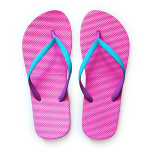 Shower at the gym? Carry your own flip flops!