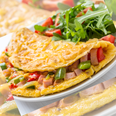 Indian Keto Diet Non-Vegetarian Ham Omelette