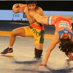 Ritu Phogat in action