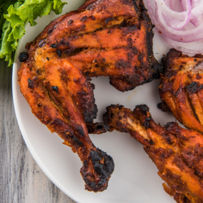 Indian Keto Diet Non-Vegetarian Tandoori Chicken with Mint Chutney
