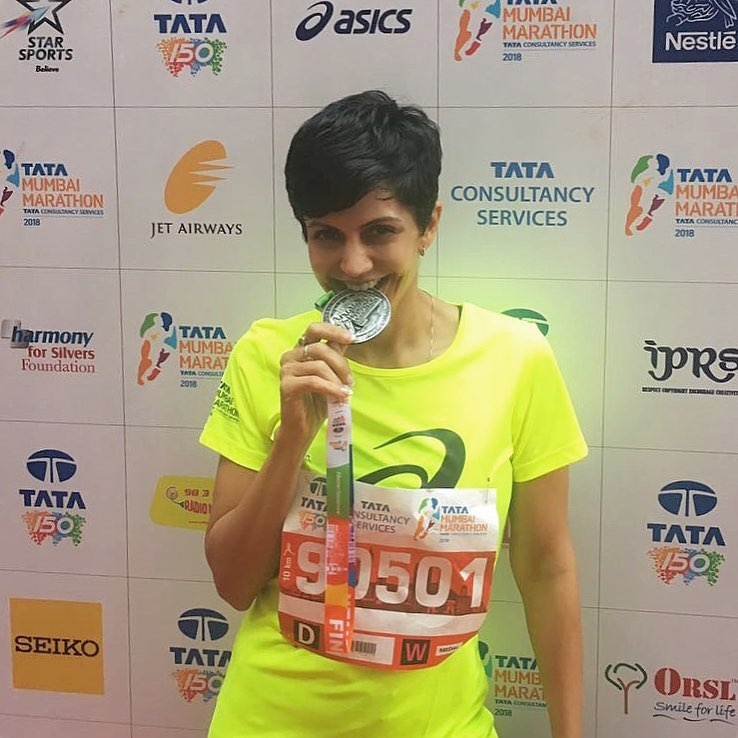Mandira Bedi - after a marathon