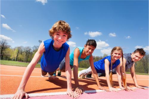 children workout